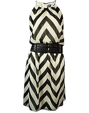 Guess Women's 'Kylie' Belted Chevron Halter Dress