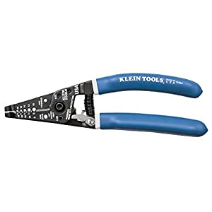 Wire Stripper and Cutter for 8-16 AWG Solid and 10-18 AWG Stranded Wire with Closing Lock Klein Tools 11054