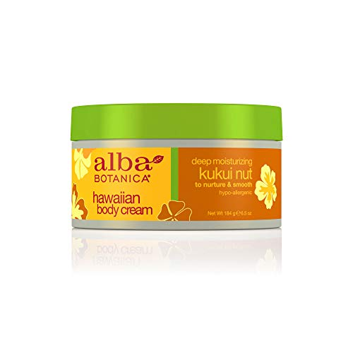 - Alba Botanica Deep Moisturizing Kukui Nut Hawaiian Body Cream, 6.5 oz.