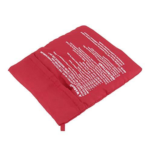 Rojo Microondas Cocina r/ápida Tejido de poli/éster lavable Fibra Bolsa Patata Cocina Para hornear Sostiene hasta 4 papas