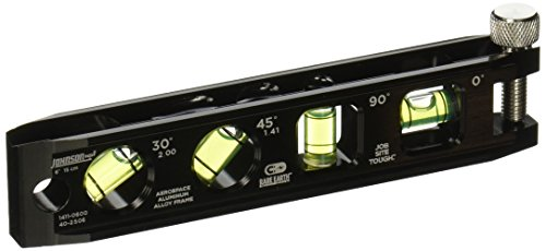 Johnson Level & Tool 1411-0600 Billet Torpedo Level, 6-Inch
