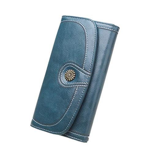 LXSF SweaTshirt New Leather Wallet Long Wax Mobile Phone Bag spot Women's Money Clip Card Package