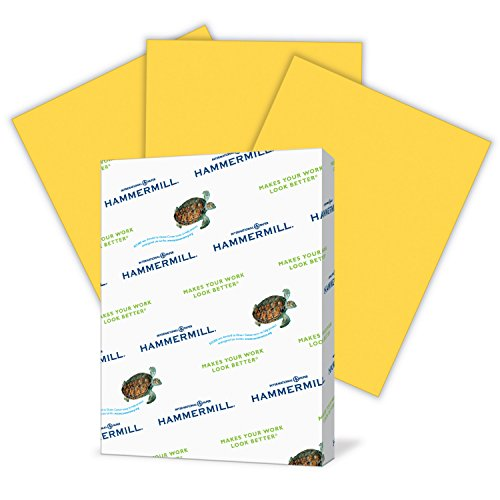 - Hammermill Paper, Colors Goldenrod, 20lb, 8.5x11, Letter, 500 Sheets / 1 Ream, (103168R), Made In The USA