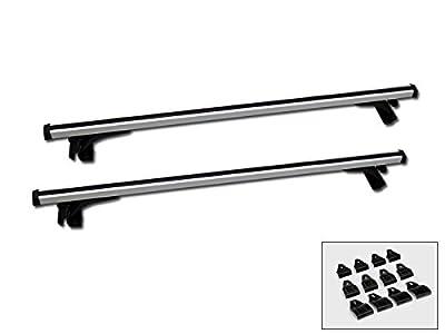 "Velocity Concepts 50"" Silver Aluminum Window Frame Roof Rail Rack Cross Bars Cargo Carrier Kit C1"