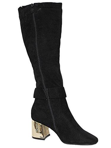 Foster Footwear , Au dessus du genou fille femme Black 4