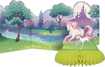COOLMP Juego de 6 centros de Mesa con Unicornio mágico, tamaño único, decoración y Accesorios para Fiestas, animación, cumpleaños, Bodas, Eventos, Juguetes, balón: Amazon.es: Juguetes y juegos