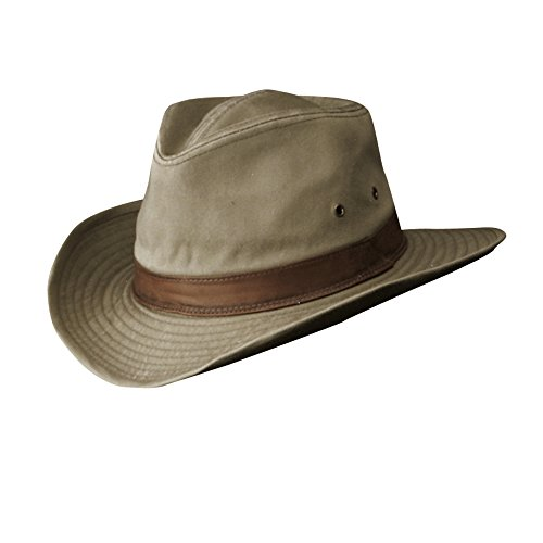 (DPC Outdoor Design Men's Outback W/Leather Hat,Brown,M)
