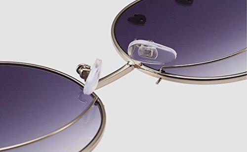 Sol A De Hombre xuexue Moda Forma Cara Sra Sonriente 04 03 para Gafas Los Ojos Viento Creativo Prueba Protección Metal Moneda Espejo Creativo Visera Protección De Corazón Plano Personalidad De UV qRzq8cU