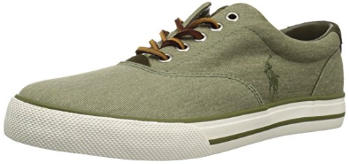 Polo Ralph Lauren Men's Vaughn Sneaker, Green, 8.5 D US