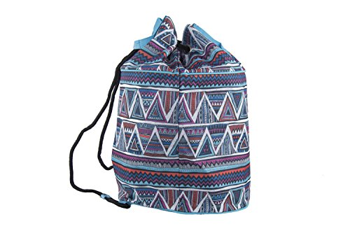 Bolsa playa piscina mujer GIANMARCO VENTURI azul backpack de hombro