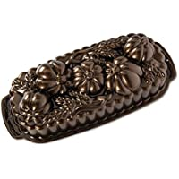 Nordic Ware 93448 Wheat & Pumpkin Cast Loaf Pan, 6 Cup Capacity, Bronze