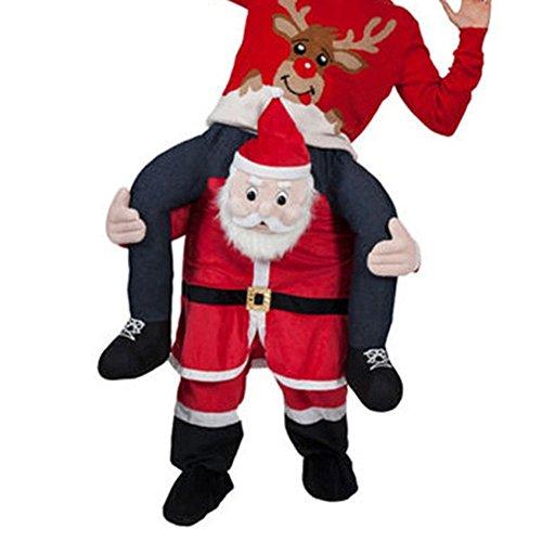 SAOMAI Ride On Riding Shoulder Adult Costume Oktoberfest Mascot (Santa Claus) -