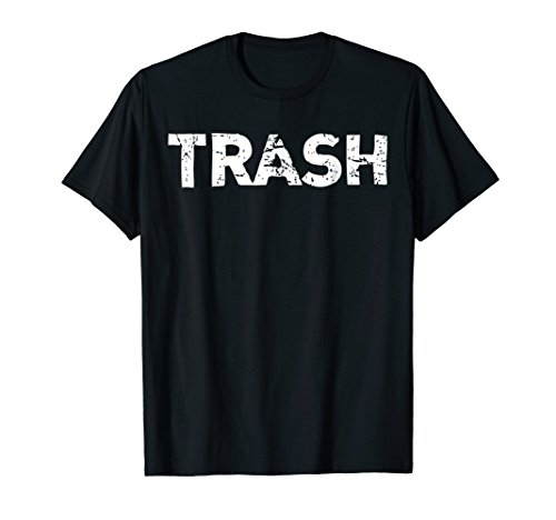 Mens White Trash Funny Halloween T-Shirt XL Black -