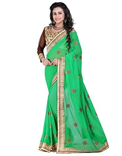 Gorgeous Green Saree - 5