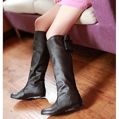 Stiefel PU GLL Unter Herbst Damen Weiß cm khaki Braun Normal Komfort amp;xuezi 5 2 Winter Khaki Schwarz qIgBE