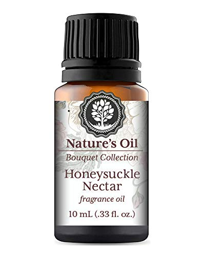 Honeysuckle Nectar Fragrance Oil 10ml for Floral Diffuser Oils, Making Soap, Candles, Lotion, Home Scents, Linen Spray and Lotion