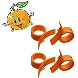 HUELE Round Orange Citrus Fruit Peelers (4)