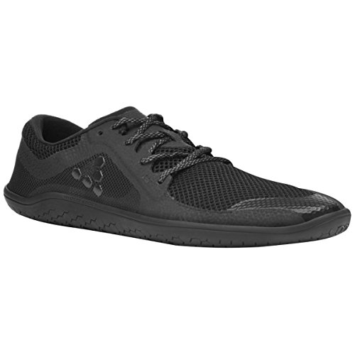 Vivobarefoot Primus LITE Men's Running Trainer Shoe, All Black, 45 D EU (12 US)