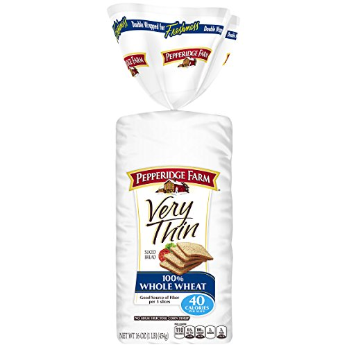 (Pepperidge Farm Very Thin Sandwich Bread 100% Whole Wheat, 16.0 Ounce, 2 Pack)