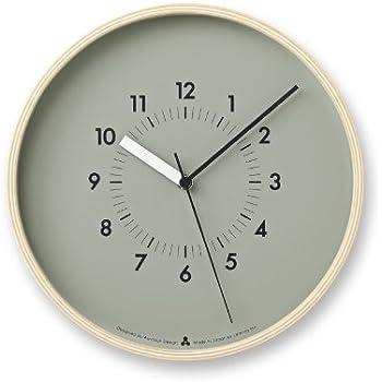 Amazon Com Lemnos Plywood Wall Clock S Gray Home Amp Kitchen