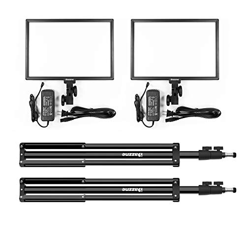 Bi-Color LED Video Light Stand Lighting Kit 2 Pack 15.4'' Large Panel 3000K-5800K 45W 4800LM Dimmable 1-100% Brightness Soft Light for YouTube Game Video Shooting Live Stream Photography Lighting by Dazzne (Image #7)