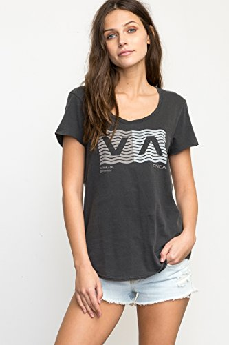 RVCA Junior's Wave Box Loose Fit Tee
