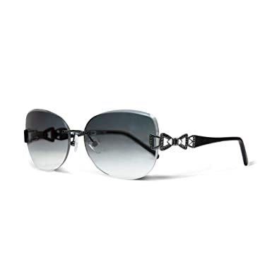 Amazon.com: Siraya Manu Black Jewelry - Gafas de sol ...