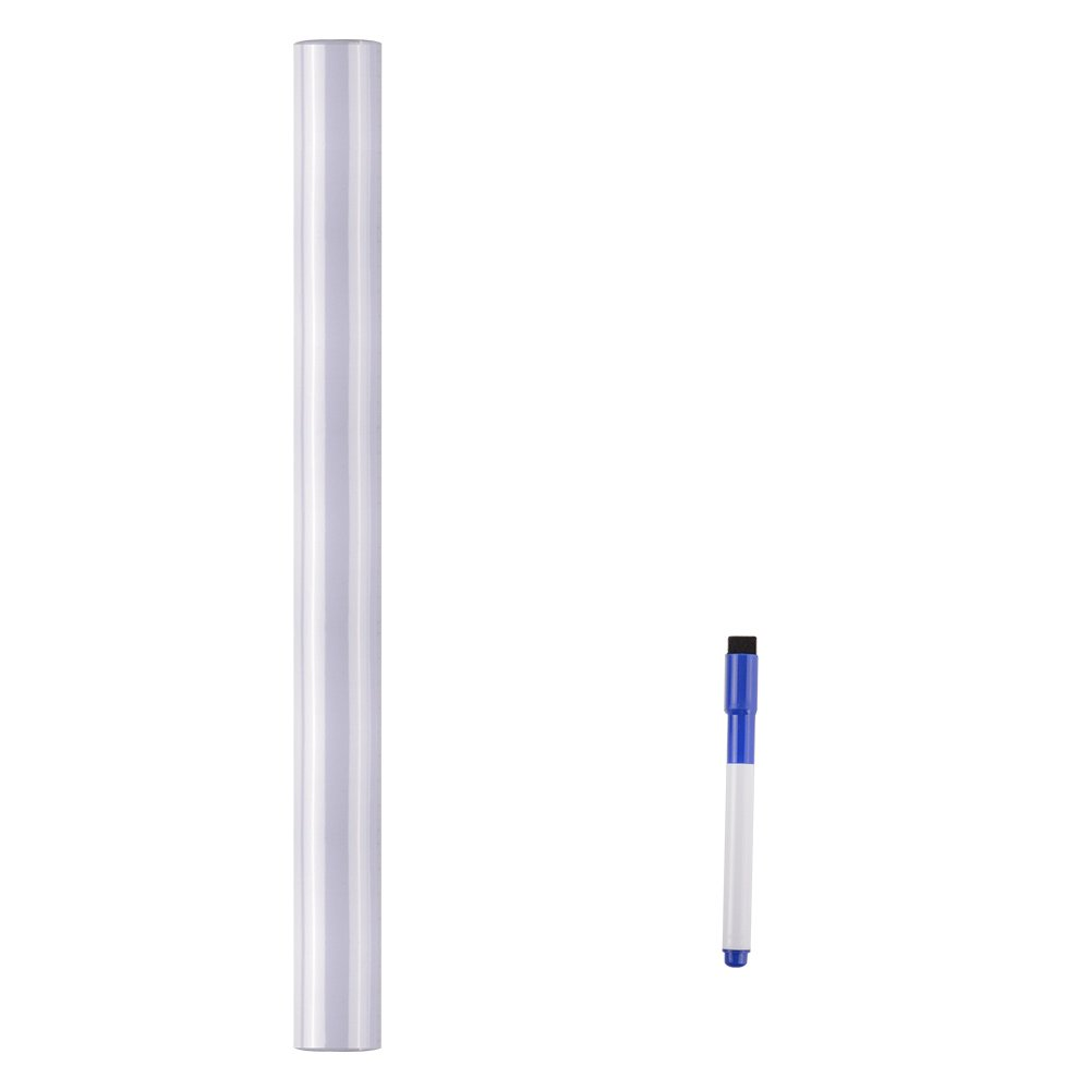 Whiteboard Sticker 17.5 by 118 inches Ninonly for School Office Home Self-Adhesive Dry Erase Wall Decal Wall Sticker Wall Paper for Kids Education & DIY Works Free 1 Water Pen (White) by Ninonly (Image #7)