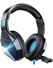 Gaming Headset Nintendo Switch Noise Canceling Mic & LED Light, Kids Gaming Headset, Kids Headphones with Microphone Compatible with PC,PS4,PS5,Xbox One Controller(Adapter Needed)