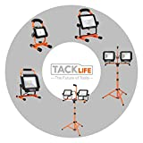 TACKLIFE Dual-Head LED Work Light, 16.5ft
