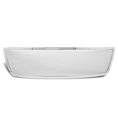 ZMAUTOPARTS Honeycomb Style Upper Hood Grille Grill Chrome For 2004-2008 Ford F-150