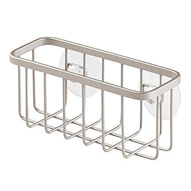 InterDesign Gia Suction Kitchen Sink Caddy, Sponge Holder for Kitchen Accessories - Satin