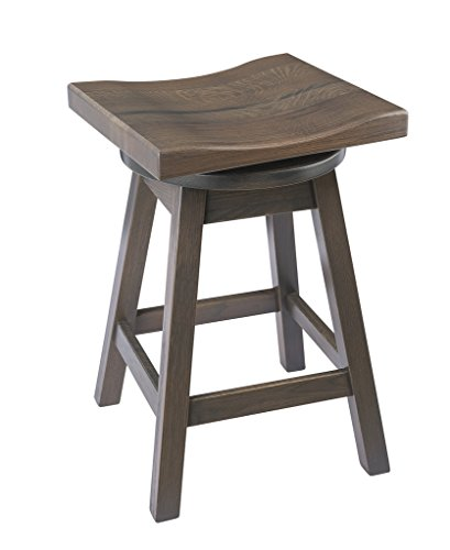 Furniture Barn USA Swivel Urban Bar Stool in Quarter Sawn Oak Wood - Multiple Sizes and ()