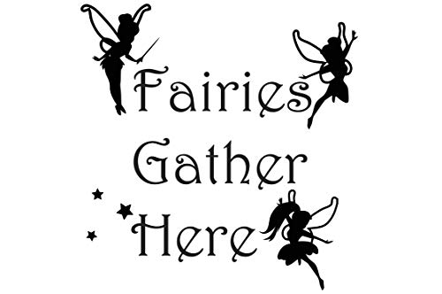 - Frankies Cajun Customs Fairies Gather Here V3 Vinyl Decal, Wall, Car, Laptop - Violet - 50 inch