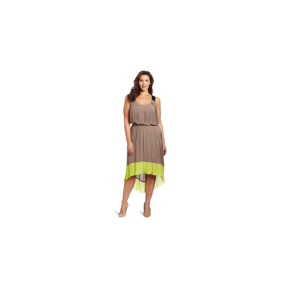 Jessica Simpson Womens Plus size Pleated Colorblock Dress