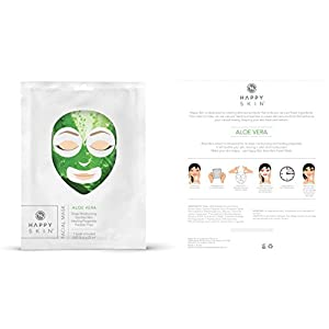 Premium Quality 5-Pack Happy Skin Rejuvenating Facial Sheet Mask - All Natural Mask For All Skin Types - Rejuvenating Sheet With Green Tea, Collagen, Aloe Vera, Charcoal & Rose - Cruelty Free