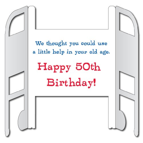 Amazon VictoryStore Jumbo Greeting Cards Giant 50th Birthday Card Over The Hill Walker 3 X 4 With Envelope