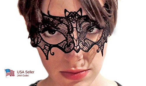 Bat Woman Black Lace Mask Batwoman Batman / Masquerade Mardi (Batwomen Costume)