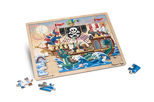 Melissa & Doug Deluxe Wooden 48-Piece Jigsaw Puzzle - Pirates