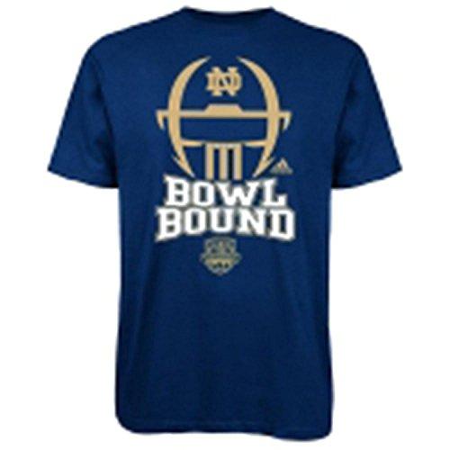 Bound Helmet T-shirt - Notre Dame Fighting Irish Adidas Youth Football Helmet Bowl Bound Shirt (X-Large)