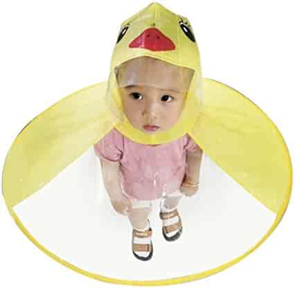 XEDUO 2PCS Portable Reusable Raincoats Children Rain Ponchos For 6-12 Years Old