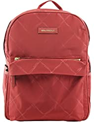 Vera Bradley Womens Preppy Poly Large Backpack Tango Red Backpack