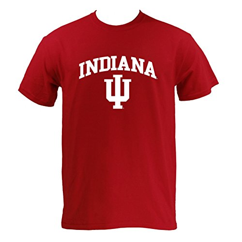 University of Indiana Hoosiers Arch Logo T-Shirt - Large - Cardinal