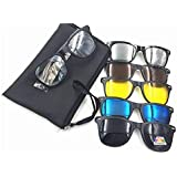 5 in 1 Magnetic Clip On Sunglasses Polarized Glasses For Travel, 2223A