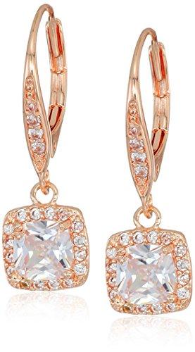 Classics Pe Single Stone Drop Earrings, Rose Gold