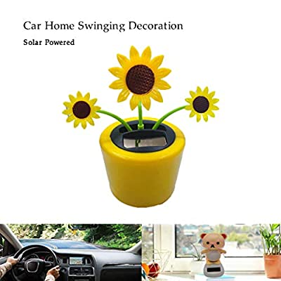 Ouniman Dancing Solar Toys, 26 Styles Solar Dancing Flower Cactus Solar Powered Toys Car Swinging Dancing Toy Car Windowsill Decoration Holiday Car Dashboard Office Home Desk Decor (U): Home & Kitchen