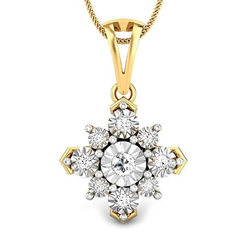 Candere By Kalyan Jewellers 18KT Yellow Gold and Diamond Pendant for Women