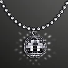 blinkee Disco Ball Charm Necklace On Silver Beads by