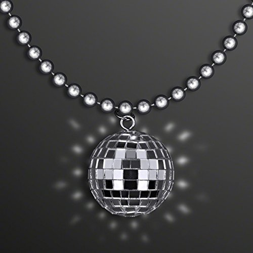 blinkee Disco Ball Charm Necklace On Silver Beads (Disco Ball Necklace)