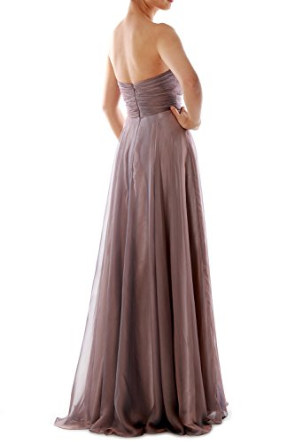 Chiffon Gown Formal Crystal Women Evening Long Burgunderrot MACloth Ball Strapless Dress Prom nRtwxvx8